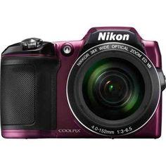 Nikon COOLPIX L840 16MP 38x Opt Zoom Digital Camera (Plum) - Walmart.com