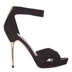 Black Cross Over Jewel Sandals 12cm Heel - Carvela by Kurt Geiger for Men and Women - Private sales | BrandAlley