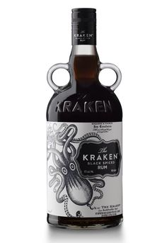 Kraken Spiced Rum - I love this bottle. Makes me think of Jack Sparrow and the Pirates of the Caribbean.