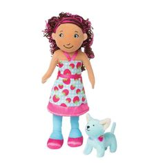 Groovy Girls Style Scents Raspberry-Scented Lilly Doll with Parfait Cat- $20.00