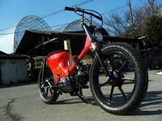 Story of motorbike modified in worldwide: April 2014 Custom Moped, Honda Cub, Motorcycle Bike, Cool Bikes, Bobber, Cars And Motorcycles, Motorbikes, Cubs, Mopeds