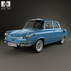 Skoda 1000 MB 1964 by The model was created on real car base. It's created accurately, in real units of measurement, qualitatively and maximally clos Car 3d Model, Volkswagen Models, 3d Modelle, Mini Trucks, Limousine, Small Cars, Europe, 3d Design, Design Trends