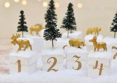 Adventskalender-Idee: Goldener Winterwald Bild via Instagram, beau_coup.