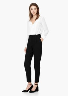 be3be28faa3  MANGO monochrome jumpsuit  jumpsuit  work outfit  indian office fashion  vipazza  Work