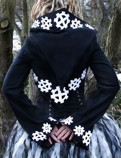 Alienskin Clothing Women's Alternative Gothic Cyber Steampunk Cog Shrug