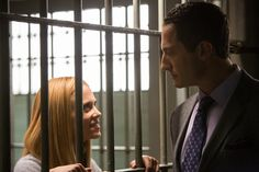 "GRIMM -- ""Season of the Hexenbiest"" Episode 212 -- Pictured: (l-r) Claire Coffee as Adalind Schade, Sasha Roiz as Captain Sean Renard -- (Photo by: Scott Green/NBC)"
