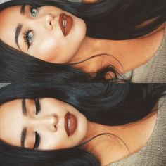 Back to black hair  | barely did my makeup today but here are the details…