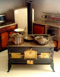vintage doll stoves