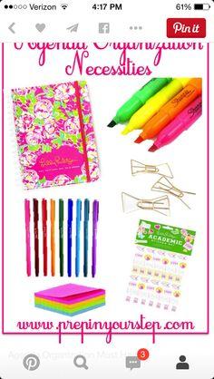 Preppy school supplies