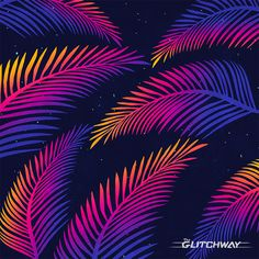 Neon Leaves (v. 2) by ?@Glitchway