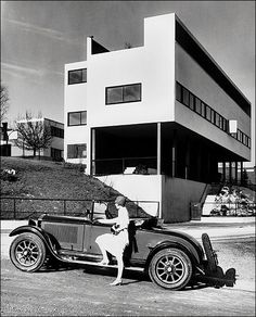 """bauhaus-movement: """"Weissenhofsiedlung in Stuttgart, Germany, Le Corbusier & Mies van der Rohe. Photo © Daimler AG // Le Corbusier, as one of the most important architects of the century,. Berlin Architecture, Le Corbusier Architecture, Classic Architecture, Architecture Design, International Style Architecture, Pavilion Architecture, Vintage Architecture, Contemporary Architecture, Design Bauhaus"""