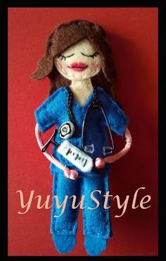 Yuyu Style _ Macramé y más: broche fieltro