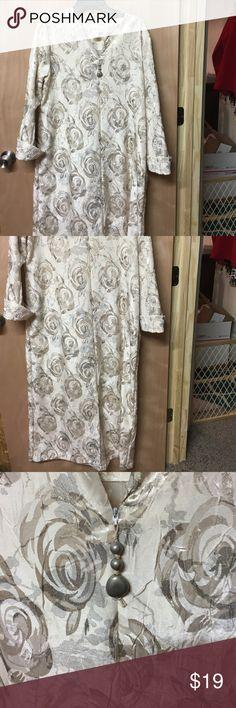 Diamond Tea Luxurious Floor Length Robe Shimmering floral design Diamond Tea Intimates & Sleepwear Robes