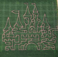 The Richardson Farm has a number of large corn mazes, but the fairy tale castle is perhaps the most…enchanting. The mazes change annually, and this castle is now closed, but it's thrilling to view regardless.