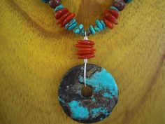 Turquoise necklace by Manny Beads