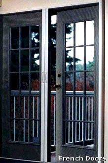 1000 images about french door screens on pinterest for French doors with screens built in