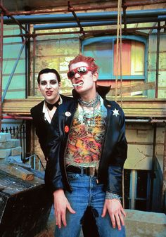 The Damned's Dave Vanian and Captain Sensible