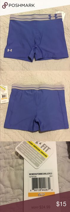 """Under Armour Purple 'Shorty' Compression shorts These are a beautiful purpose under armour pair of shorty 3"""" compression shorts. Perfect under clothes while working out, or just paired with a top for running or yoga! Under Armour Shorts"""
