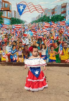 Puerto Rican Festival, Puerto Rican Parade, Puerto Rican Girl, Puerto Rican Power, Puerto Rico History, Puerto Rican Culture, Flower Pot Crafts, 1st Birthday Outfits, Mexican Party
