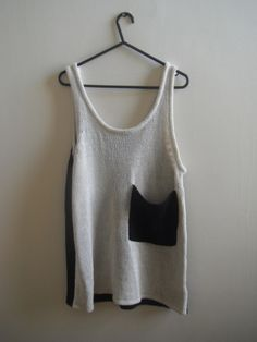 knitted tank and pocket!