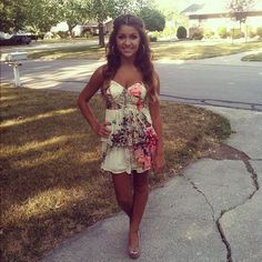 Andrea Russet, my idol <3 The dress and hair color and hair style is so cute! The natural makeup is cute too!