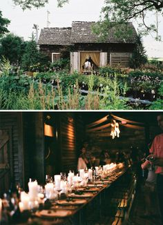 Kinfolk dinner gathering at a little cabin (and garden) in the woods. Just gorgeous.