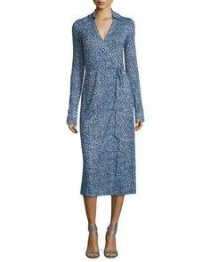 DIANE VON FURSTENBERG Cybil Printed Silk Jersey Wrap Dress. #dianevonfurstenberg #cloth #