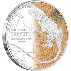 Endangered Species, Coin Collecting, Silver Coins, Collars, Art Pieces, Reptiles, Animal, Collection, World