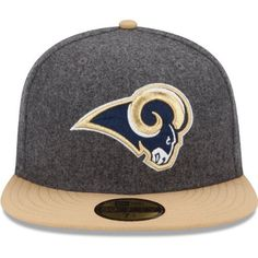 Men's New Era St. Louis Rams Melton Basic 59FIFTY? Structured Fitted Hat by New Era. $35.99. Eyelets for ventilation Officially licensed Made in China. 80% polyester, 20% wool. Fitted hat. Team logo embroidered on front; NFL® Shield on backContrast-colored flat bill and top button. Keep your head toasty warm and full of spirit in this men's New Era® Melton Basic 59FIFTY® structured hat! The fitted cap displays your favorite team's logo embroidered on the front and t...