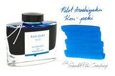 Fountain Pen Ink   Pilot Iroshizuku Kon-peki - 50ml   GouletPens.com