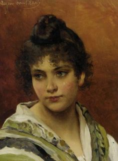 Young Beauty :: Eugene de Blaas - Young beauties portraits in art and painting
