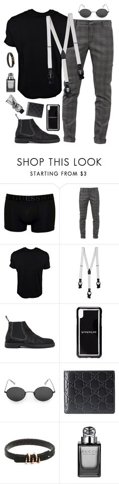 """So he's a Gucci man?"" by redglassesgirl ❤ liked on Polyvore featuring GUESS, Dondup, Neil Barrett, La Perla, Paul Smith, Givenchy, Gucci, StingHD, men's fashion and menswear"
