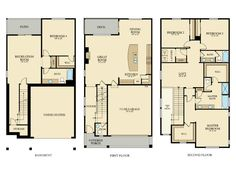 The Columbia Home - 3,395 square feet with 4 bedrooms and 3.5 baths.