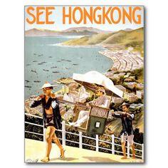 See Hong Kong Postcards Vintage Travel #Postcard