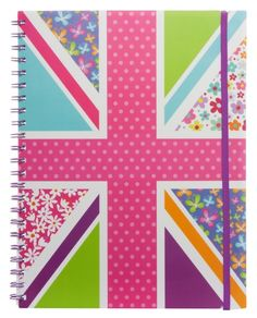 WHSmith Festival A4 Wide Ruled Notebook