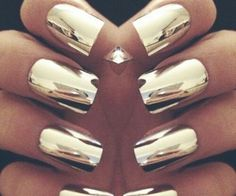 metallic gold nails