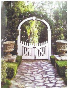 Door Furniture, House Plans, Arch, Gate Ideas, Outdoor Structures, Front Yards, Arbors, Landscape, Gates