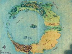 Map of Kinshia. This map is so nice. The graph paper and all.  Who knows what game this is for?