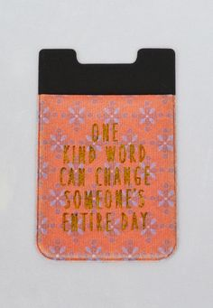 one kind word phone pocket-coral