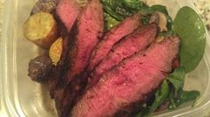 Marinated flank steak ¦ FTC personal chefs in Kansas City and Wichita    Flank steak marinated with Lea & Perrins worcestershire, balsamic vinegar and soy sauce then pan seared in sunflower oil. Served with pan wilted spinach and roasted Yukon Gold potatoes.     Friend That Cooks personal chefs offer weekly meal prep in Kansas City and Wichita for families with busy schedules, food allergies and dietary restrictions. www.friendthatcooks.com