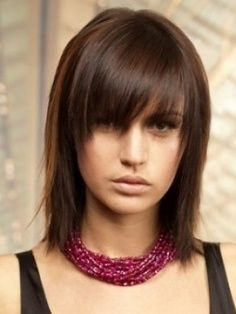 Choppy bob with bangs.  Might be interesting to try and grow my hair out for this.