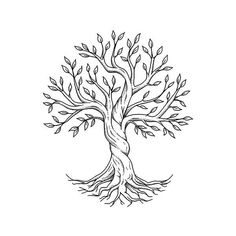 Tree of Life by Steven Habersang - Strong roots produce beautiful leaves. Celtic Tree Tattoos, Tree Roots Tattoo, Tree Tattoo Men, Willow Tree Tattoos, Deer Tattoo, Raven Tattoo, Tree Of Life Artwork, Tree Of Life Painting, Tattoo Life