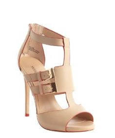 Modern Viceblush leather double buckle detail sandals