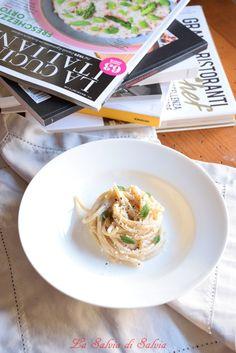 Spaghettoni con bruss, pepe e lippia dulcis