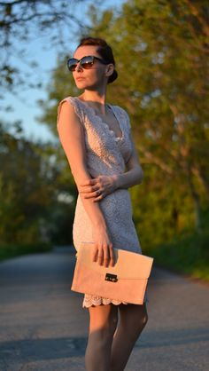 P.pink lace dress