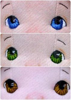 Different coloured dolls eyes ideas Embroidery Eyes for a doll. More Mehr dolls bts CLICK Visit link for more details - Caring For Your Collectable Dolls. How to embroider eyes. 34 Patterns You Are Going to Love . Crochet Eyes, Crochet Dolls, Doll Eyes, Doll Face, Doll Crafts, Diy Doll, Sock Dolls, Baby Girl Dolls, Doll Tutorial