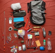 A collection of items you can find in my gecaching bag. How many of these items do you carry?