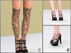 collection for SF Magazine Sims 4, Sims 3 Shoes, The Sims4, Ever After, Stockings, Magazine, Collection, Fashion, Shoes
