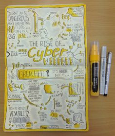 "Sketchnotes from BBC Click ""The rise of cyber warfare"" - 22 August 2013 