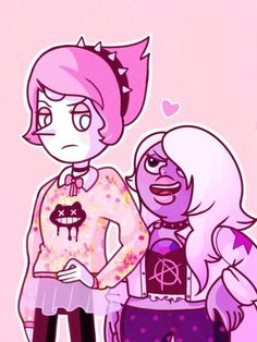 Steven universe | Pearl and Amethyst as pastel Goth
